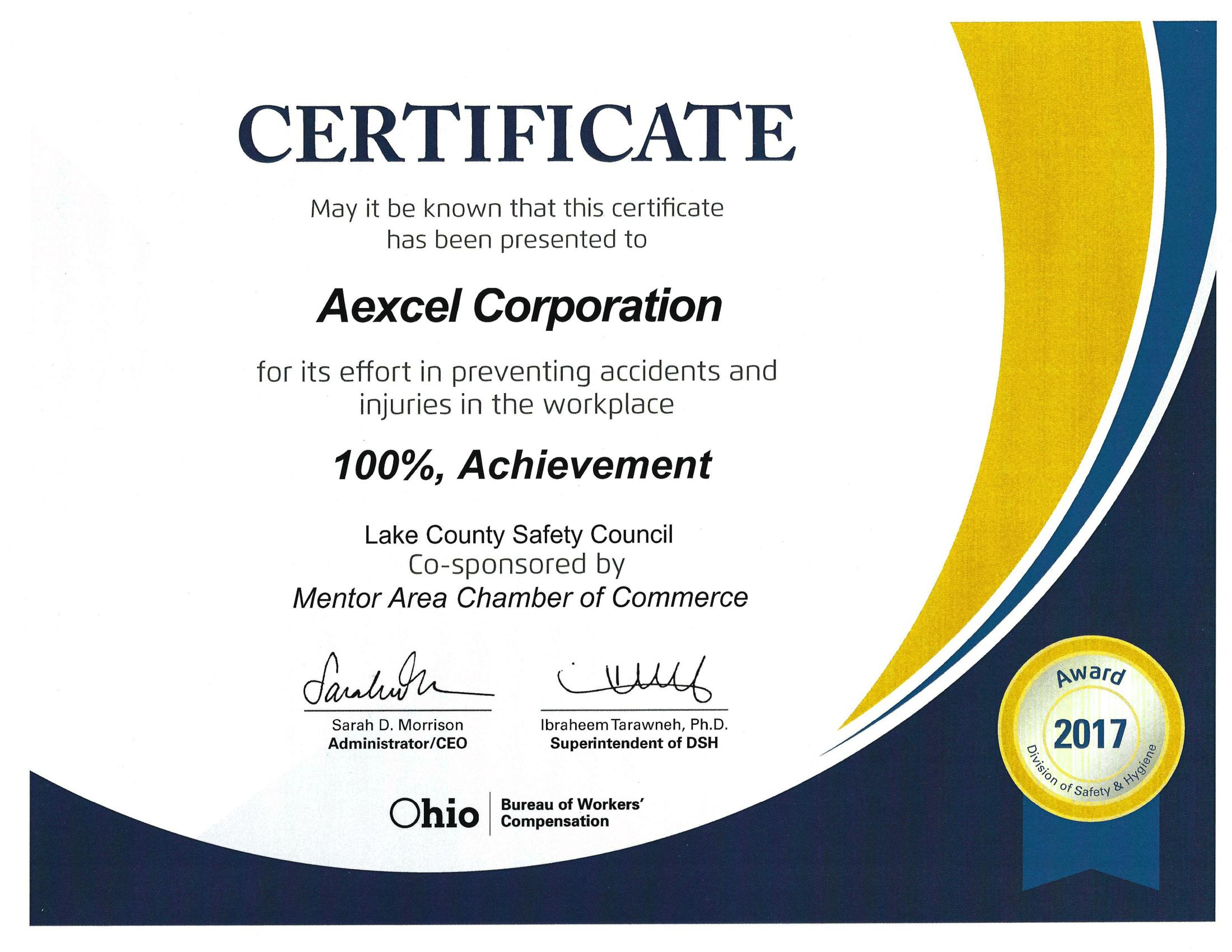 100 Percent Achievement Award