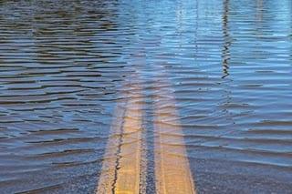 rainwater on road